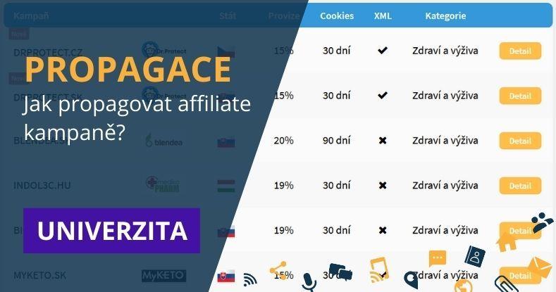 PROPAGACE - jak propagovat affiliate kampaně