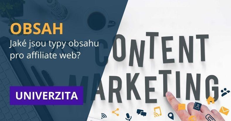 typy obsahu pro affiliate web