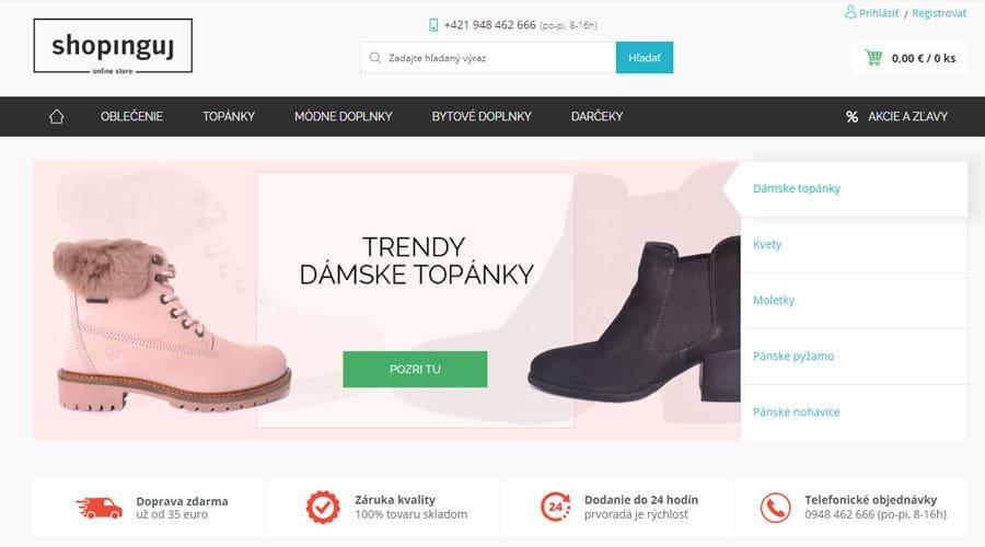eshop Shopinguj.sk