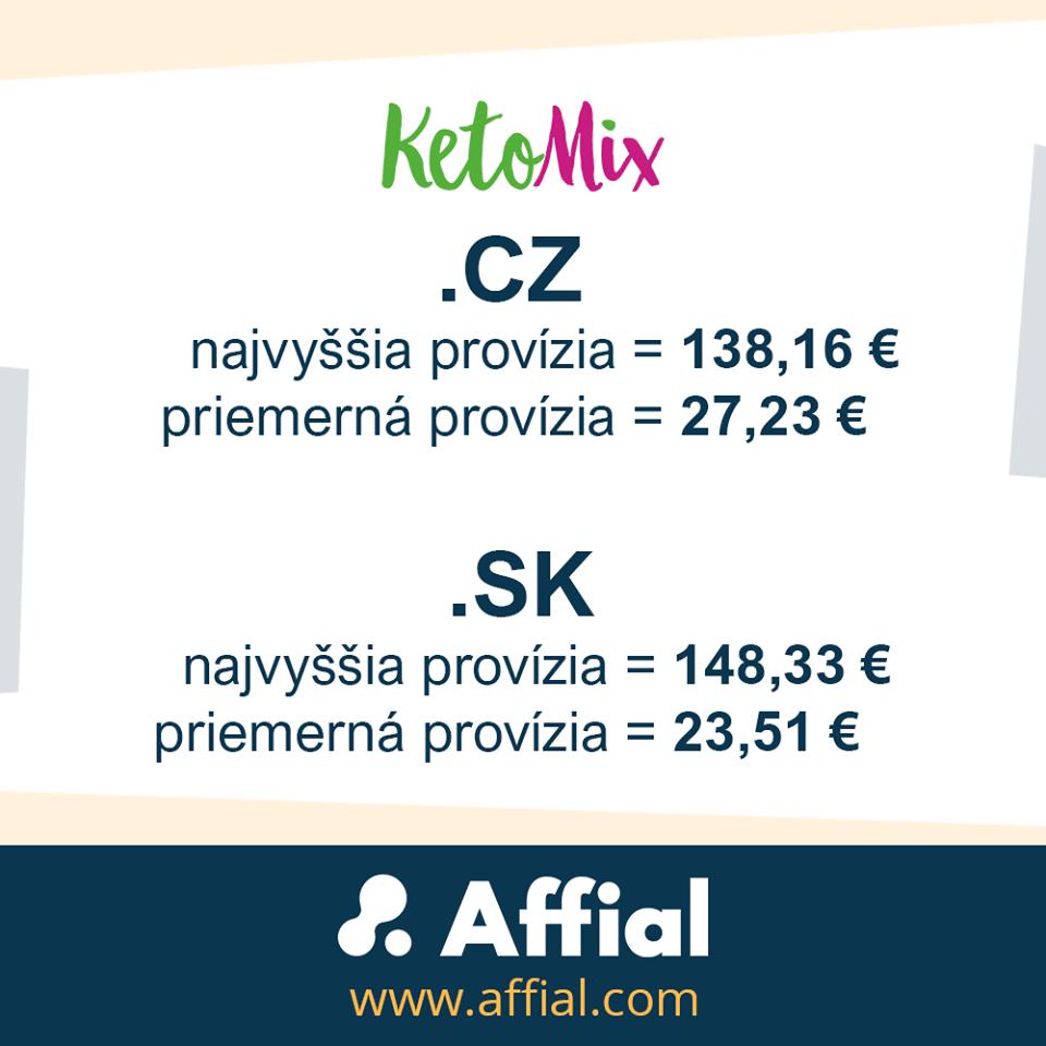 Ketomix provízie