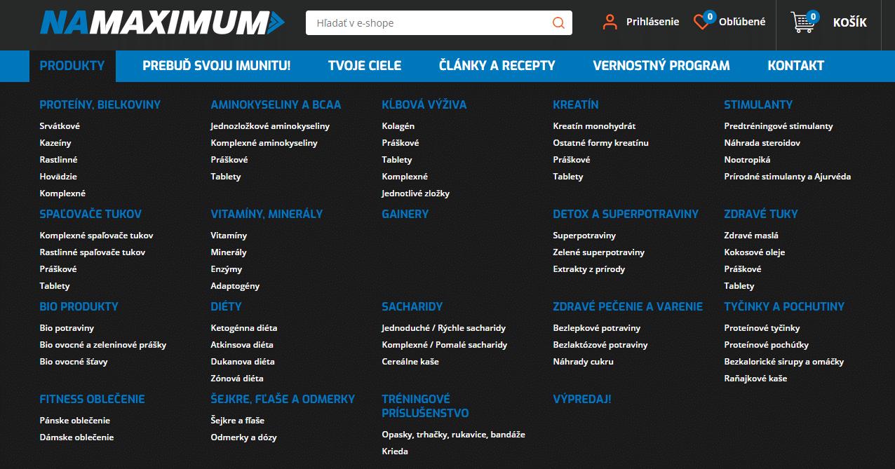 produkty z namaximum