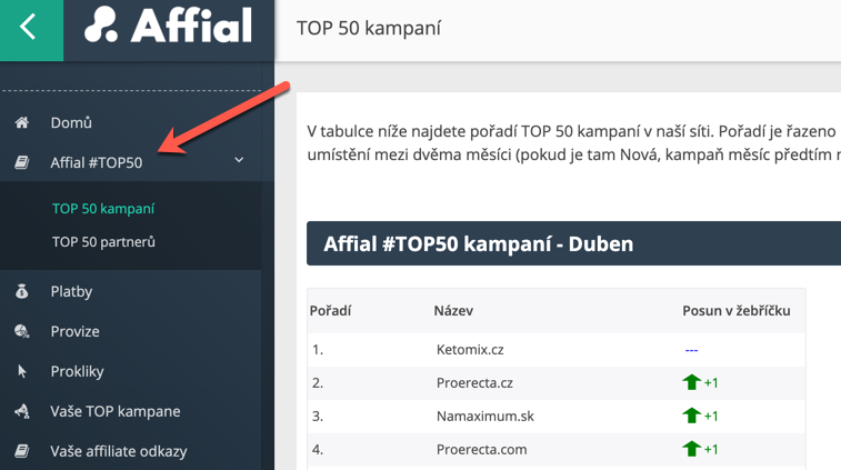 Affial TOP 50