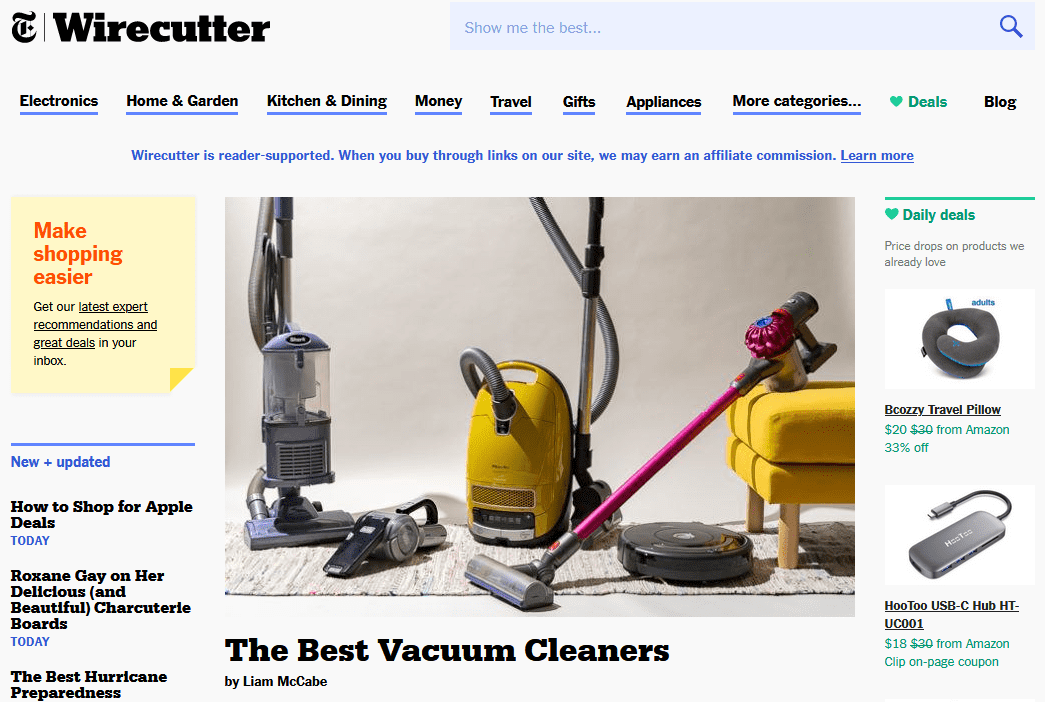 wirecutter affiliate