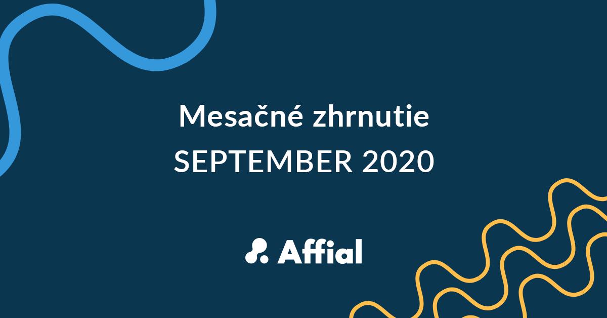 Mesačné zhrnutie september 2020