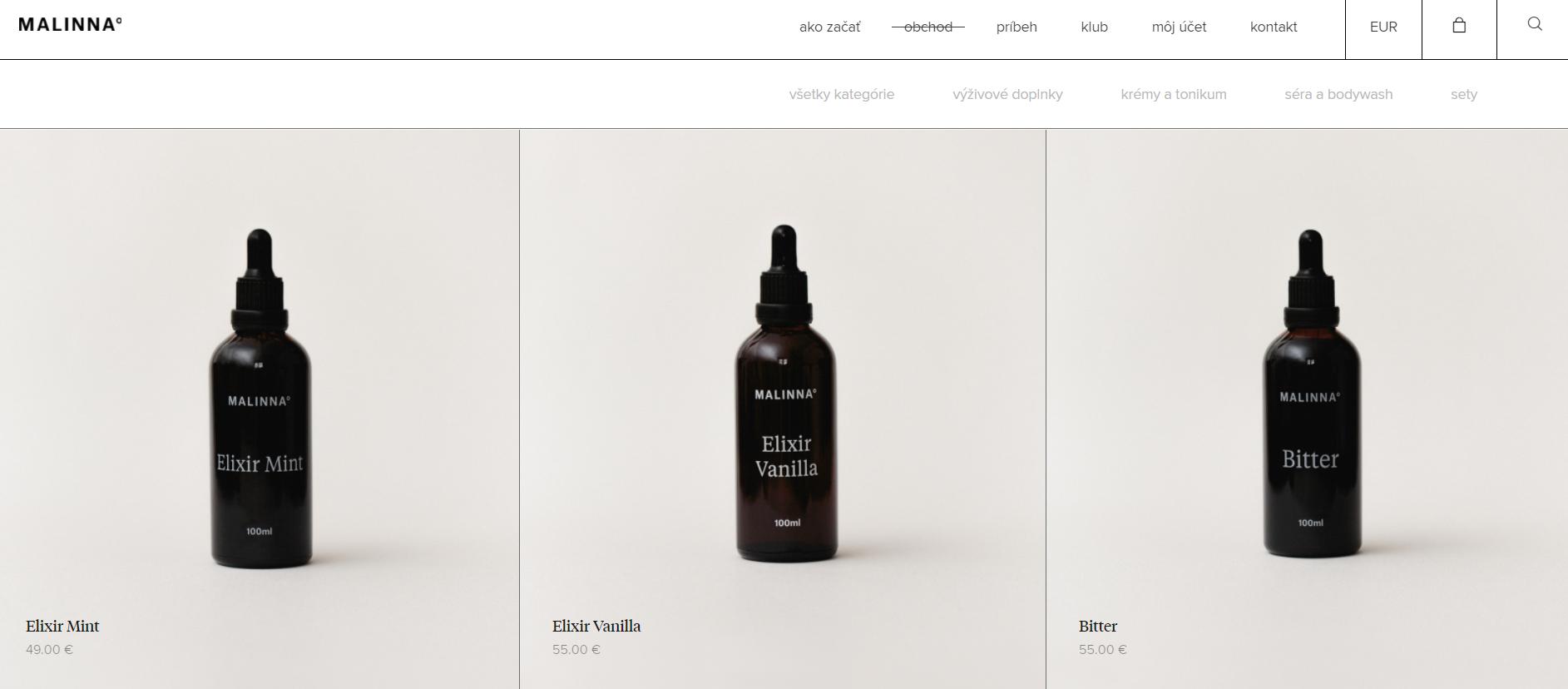 Malinnaproducts eshop affiliate kampaň