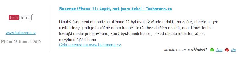 Heureka recenze iPhonu 11