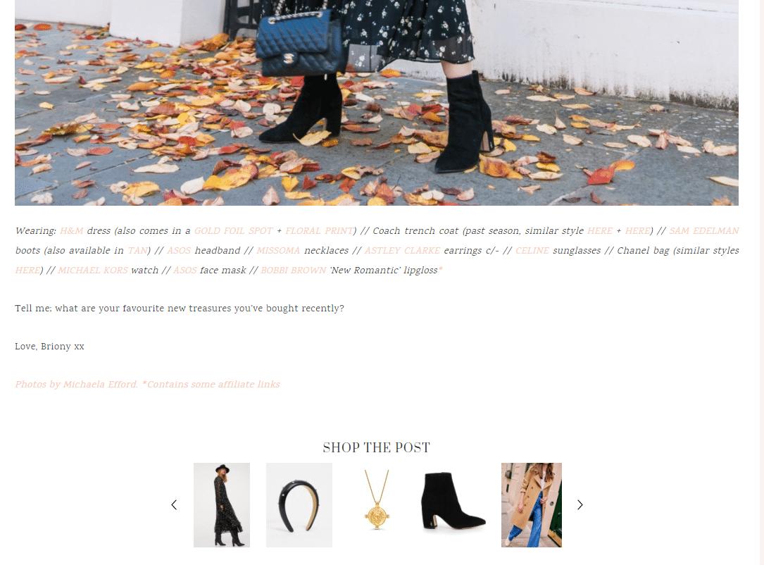 prmo produktov v článku blogeri