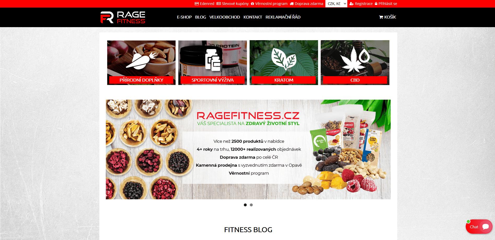 Ragefitness.cz e-shop