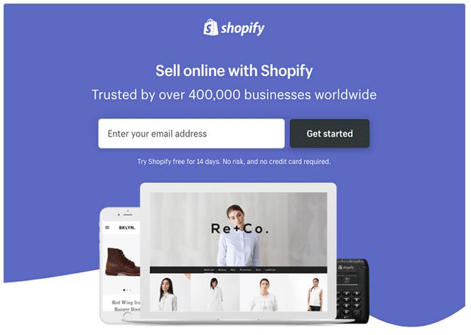 Ukázka Shopify landing page s vysokým konverzním poměrem